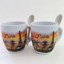 Set de 2 mini mugs Paris...