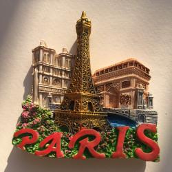 Magnet in resin Paris Tour...