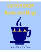 Paris mugs and bowls